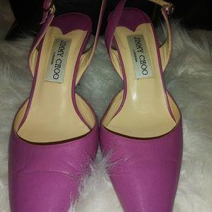 Pink slingback Jimmy Choo pumps
